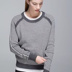 Lululemon Devi Crew Striped Sweater